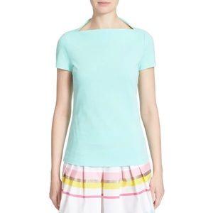 KATE SPADE   Broome Street Boatneck T-Shirt Aqua